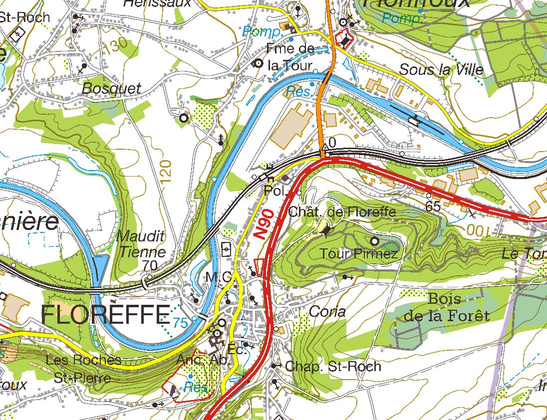 Cartes topographiques standard